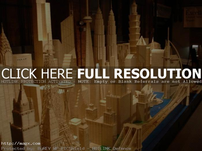 4 Amazing Toothpicks City Art by Stan Munro