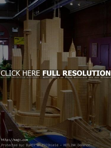 6 Amazing Toothpicks City Art by Stan Munro