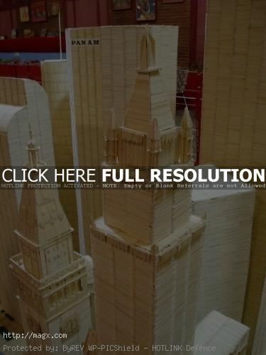 8 Amazing Toothpicks City Art by Stan Munro