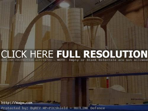 9 Amazing Toothpicks City Art by Stan Munro