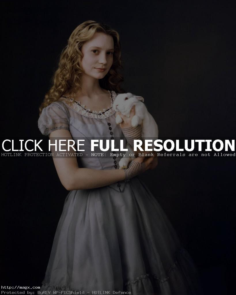 2 Mia Wasikowska is Alice in Wonderland 2010